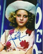 Jodie Foster Signed Taxi Driver Photo Uacc Reg 242 Also Acoa Certified