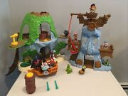 Jake And The Neverland Pirates Tiki Hideout Adventure Rock Toys Lot