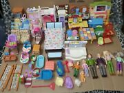 Large Lot Fisher Price Loving Family Dolls Furniture And Rare Peices