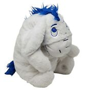 Disney Store Winnie The Pooh 18and039and039 Winter Eeyore White Blue Plush Detachable Tail