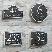 Personalized House Address Sign Plaque Door Numbers 10cm14cm Glass Effect Acryl