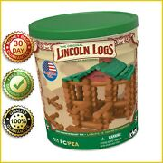 Lincoln Logs 100th Anniversary Tin Lincoln Log 111 Pieces Stem Building Toy New