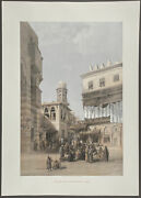David Roberts - Bazaar Of The Coppersmiths. 16, 1849 Folio Duotone Lithograph