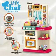 Bubbling,running Water, Music And Led Light, Kitchen Pretend Playset Playhouse