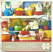Complete Flea Market Foodie Finds 1000pc Puzzle 24x30 Colorful Containers
