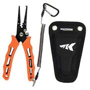 Cutthroat 7 Inch Fishing Pliers, 420 Stainless Steel 7'' Split Ring Nose