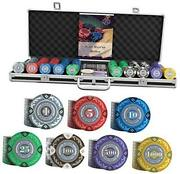 Poker Case And039tonyand039 With 500 Clay Poker Chips - Premium Pokerset For Cashgame