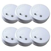 Smoke Alarm Detector Sensor Battery Operated Home Fire Safety 6 Pack