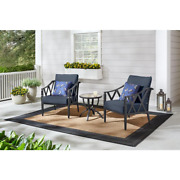 Harmony Hill 3-piece Black Steel Outdoor Patio Stationary Conversation Set With