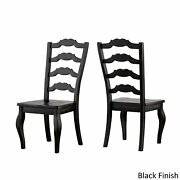 Eleanor Sage Green Farmhouse Trestle Base French Ladder Antique Black Chairs And