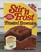 Vtg 70s 80s Betty Crocker Stir N Frost Frosted Brownies Mix Box Cake