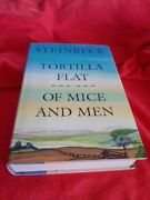 John Steinbeck, Tortilla Flat And Of Mice And Men, Book-of-the-month W/ Dj 1995