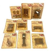 Vintage Mini Wooden Furniture Nib Lot Of 9 Doll House Furniture Pieces