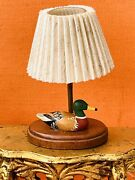 B. Gibson Dollhouse Miniature Wood Duck Decoy Lamp Signed/dated 1987