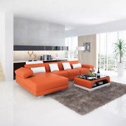 Design Sofa Corner Couch Pads Set Coffee Table New 2tlg