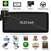 Android 9.1 Single Din Car Mp5 Player 10.25 Inch Touch Screen Gps Wifi W/ Camera