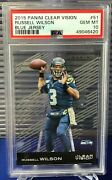 Psa 10 - 2015 Panini Clear Vision Acetate Russell Wilson Seahawks 51 Pop 1