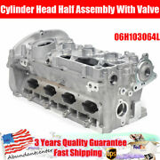 Cylinder Head Half Assembly With Valve For Audi A4 A5 A6 Q5 Tt 2.0l 06h103064l
