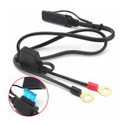 1x Motorcycle Battery Terminal Ring Connector Harness Charger Adapter Cable 12v
