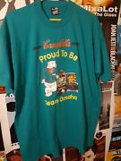 Vintage 80s Blue Campbell's Soup Team Omaha Food Promo Tee Shirt Size Xl Mint