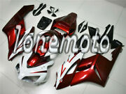 Fit For Honda Cbr 1000rr 04-05 White Pearl Red Injection Abs Plastic Fairing Ao