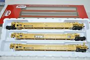 Ho Atlas Ttx Dttx Trailer Train Thrall 53' Articulated Containers Well Car Set
