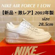 Rare Nike Air Force 1 Leather Gum Sole White [menand039s 10.5 / Womens 11.5]