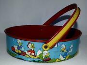 Ex Disney1930's Donald Duck And Friendslithographed Tin Sand Sifter By Ohio Art