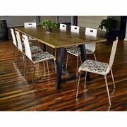 Kfi 30in H Conference Table With 36in D Solid Wood Top