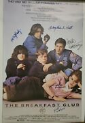 Breakfast Club Movie Poster 36x24 Signed By 5 Cast Members Rare