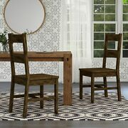 Carbon Loft Glamdring Rustic Dining Chairs Set Of 2 Rustic Oak Traditional Ru