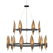 Fredrick Ramond Fr44009 Willow 18 Light 36w Taper Candle Style - Carbon Black