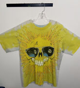 Rare Vintage Bye-dye Sun And Moon Double Sided Xl Single Stitch Made In Usa Aop