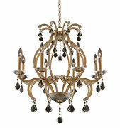 Kalco 029651-fr001 Duchess 8 Light 28w Taper Candle Style - Brushed Champagne