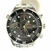 Omega Seamaster Chrono 300 Mens Automatic Winding Stainless Black Dial