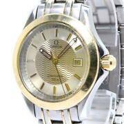 Secondhand Omega Seamaster Menand039s Watches Date Quartz Ss Yg Gold Dial 1501.823