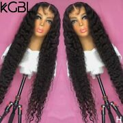 Natural Color Curly Lace Front Human Hair Wigs Pre-plucked Non-remy Brazilian