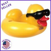 Game 51301-bb Derby Duck Large 4 Feet Wide Adult Pool Inflatable Ring Float
