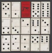 The Molassine Co Trade Cards Set Of Dominoes Dog Cake