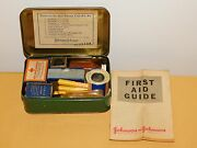 Vintage 1942 Johnson Girl Scouts Official First Aid Kit Metal Box