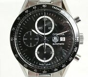 Tag Heuer Carrera Cv2010-3 Automatic Black Dial Stainless Steel Menand039s 40 Mm