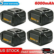 1~4pack 20 Volt For Worx Wa3525 20v Max Lithium 6.0ah Battery Power Tools Wa3520