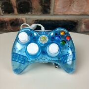Rock Candy Xbox 360 Controller Wired Light Blue Translucent Controller No Usb