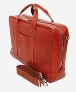 Terrida Senior Briefcase Bag Laptop Case Travel Real Leather Handmade In Italy