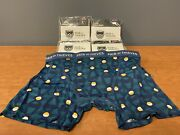 Lot Of Pair Of Thieves Large Boxer Brief Super Fit 34-36 Teal 5 Pairs