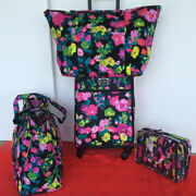 Vera Bradley Travel Hilo Meadow 22 Spinner Carry-on Get Going Cosmetic 4 Pc
