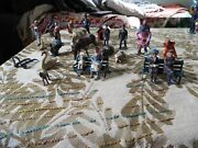 25 Piece Lot Of Vintage Lead Figures Made In England And France