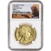 2016 American Gold Buffalo 1 Oz 50 - Ngc Ms70 - Early Releases - Bison Label