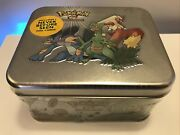 Pokandeacutemon 2003 First Ever Tin - New And Sealed Pokemon Vintage Chest - Gem Mint
