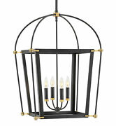 Hinkley Lighting 4055 Black Selby 4-light 20w Taper Candle Chandelier